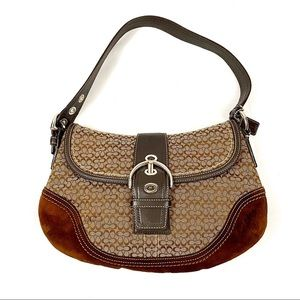 COACH brown shoulder purse